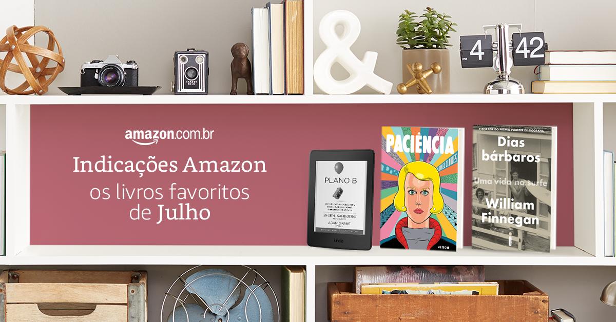Indicações para os melhores livros de Julho da Amazon