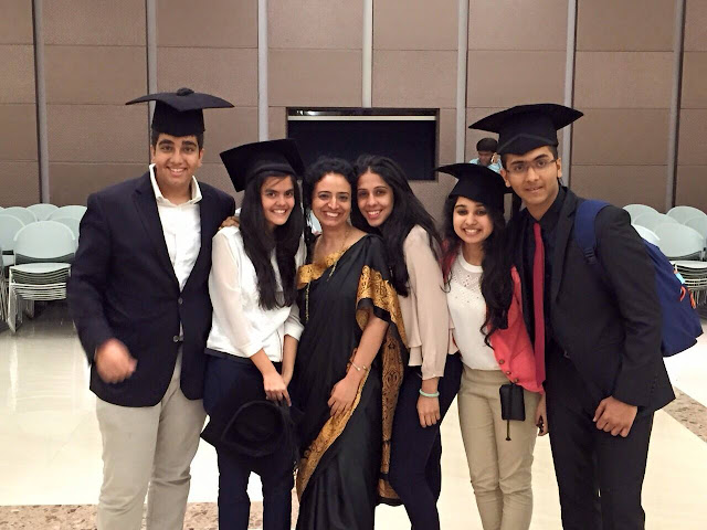 Filmmaker and Film Educationalist Oorvazi Irani (center) with her batch of graduating students