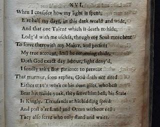 When I Consider How My Light Is Spent sonnet John Milton