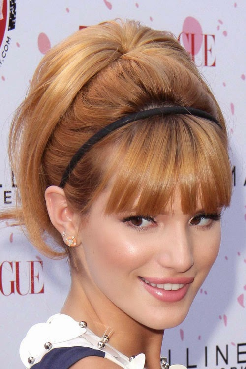 bella thorne cute updo hairstyle with simple headband
