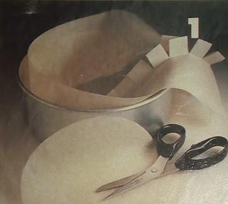 Como cubrir el molde de una tortera con papel encerado