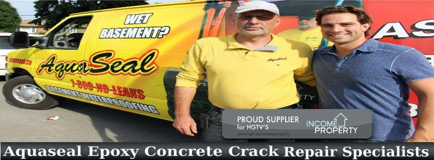 Aquaseal Basement Foundation Epoxy Polyurethane Concrete Crack Repair 1-800-NO-LEAKS (665-3257)