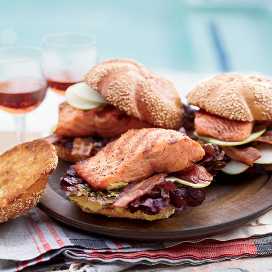 Glazed Salmon Sandwich with Bacon | FeaturingMatt