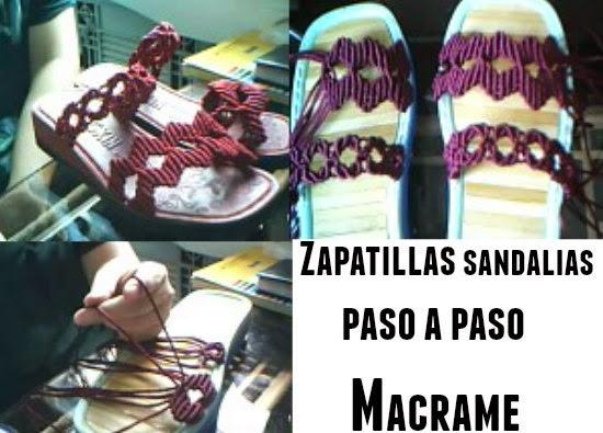 zapatillas de macrame paso a paso, sandalias de macrame tutorial