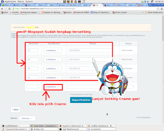 penyetingan 4 IP Adress blogger idwebhost