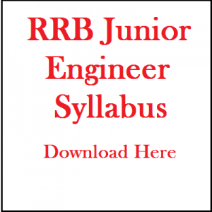 RRB JUNIOR ENGINEER EXAM SYLLABUS