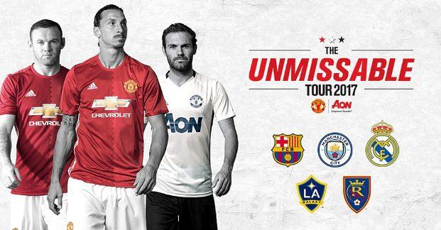 Manchester United Gelar Tur Pramusim 2017-2018 di Amerika Serikat