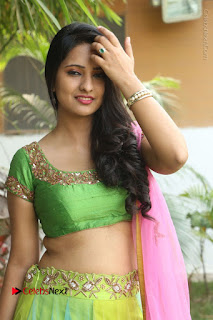 Actress Nikitha Bisht Stills in Lehenga Choli at Pochampally Ikat Art Mela Launch  0096.JPG