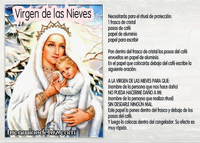 Ritual Virgen de las Nieves contra enemigos