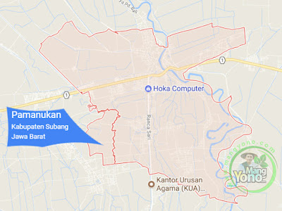 PETA : Kecamatan Pamanukan, Kabupaten Subang, Jawa Barat