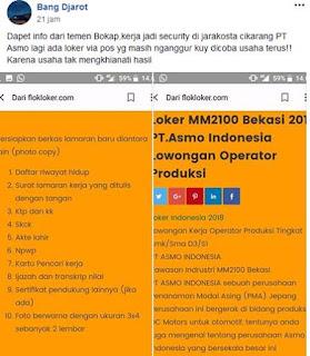 lowongan kerja terbaru pt asmo indonesia cibitung