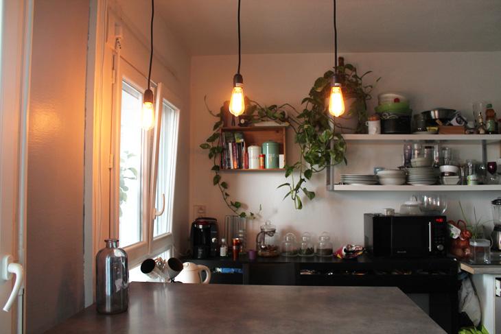 mes suspensions ampoules vintages fait maison. Black Bedroom Furniture Sets. Home Design Ideas