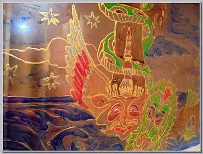 роспись витражными прозрачными красками на окне