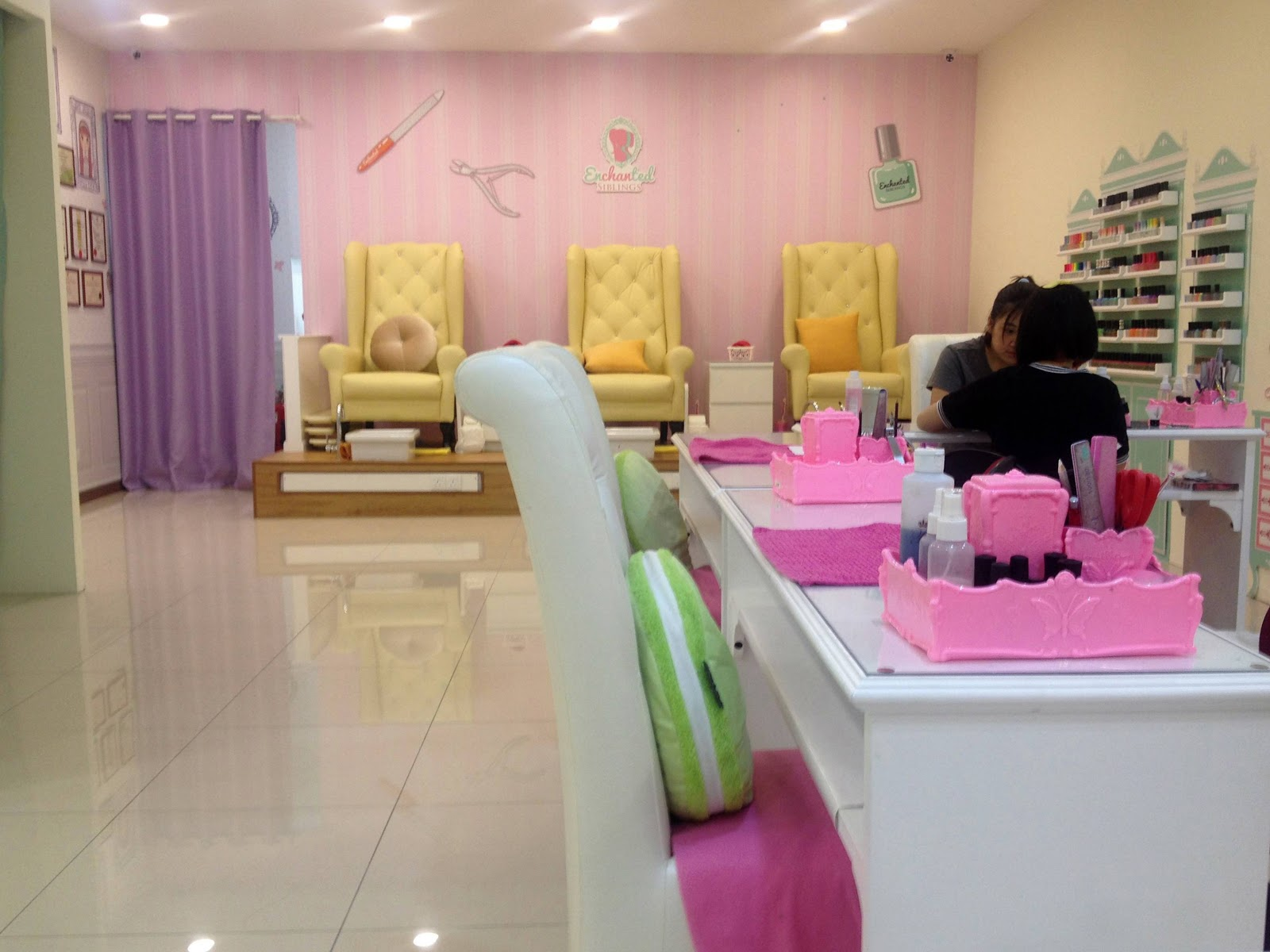Joilynn first manicure experience enchanted siblings for 4 sisters nail salon hours