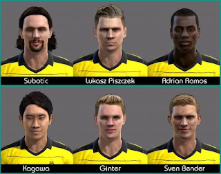 Faces Borussia Dortmund Pes 2013 by Green