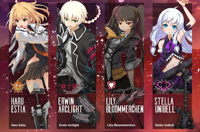 Ekran wyboru postaci w grze SoulWorker