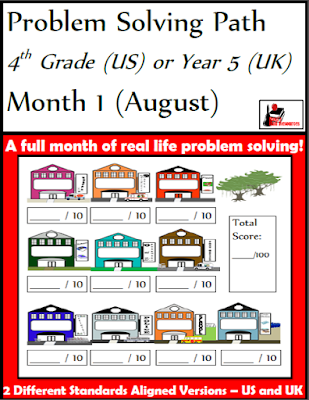 Free 4th grade math problem solving journal- 10 free word problems with graphic organizers and grading rubrics - from Raki's Rad Resources.