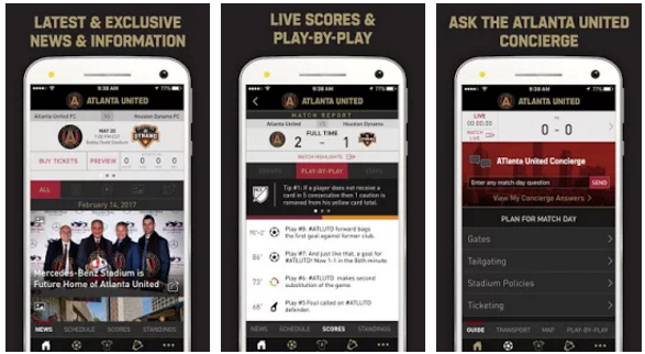 quite nice 08ab4 db533 Atlanta United FC Apps - Youth Apps - Best Website for ...