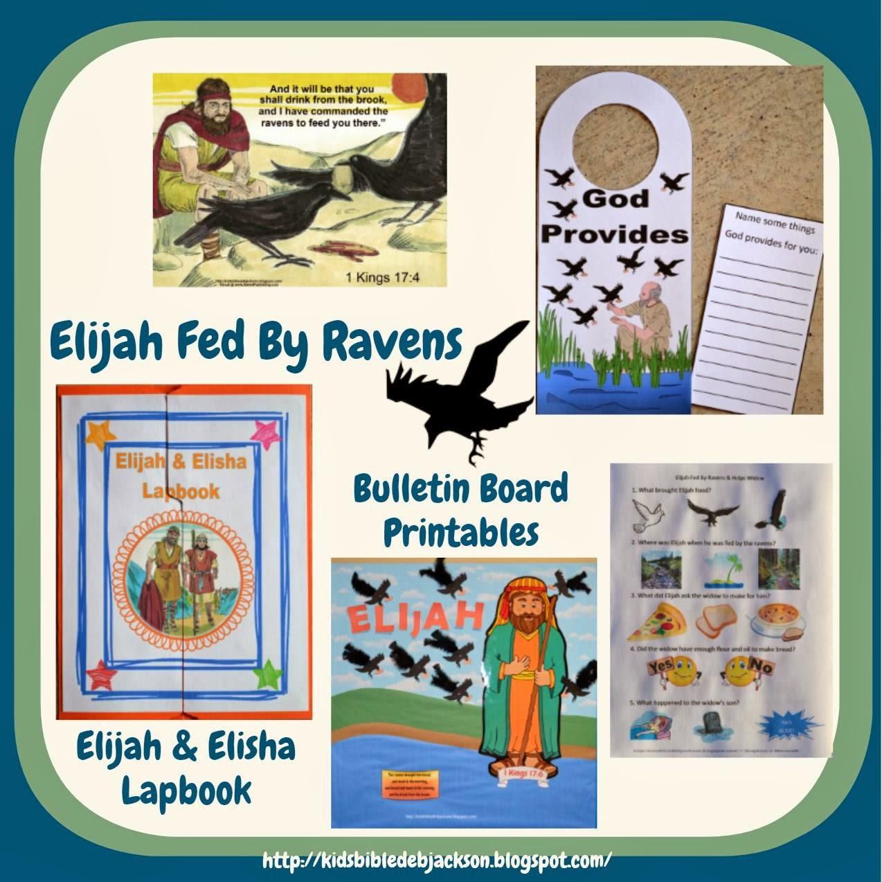 http://www.biblefunforkids.com/2014/03/elijah-fed-by-ravens.html