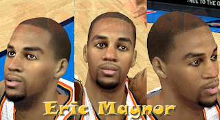 NBA 2K13 Eric Maynor Cyber Face Patches
