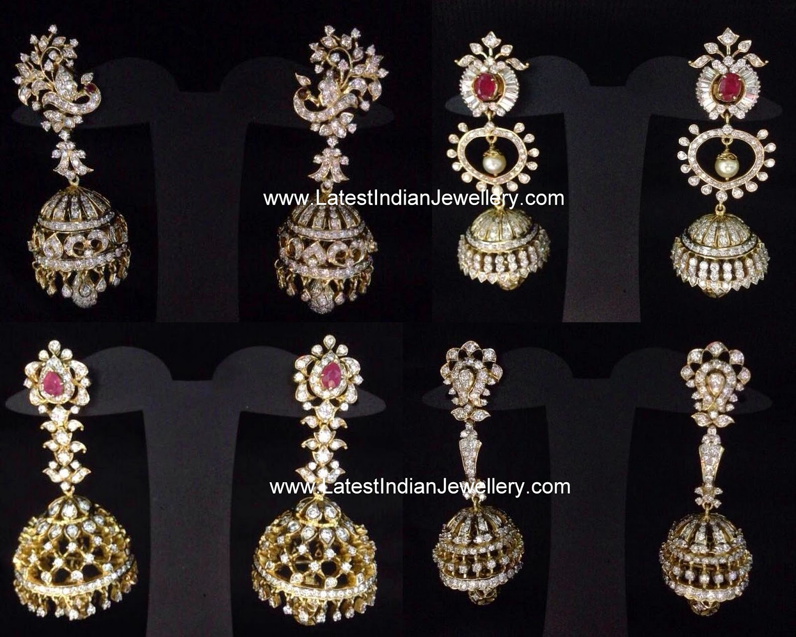 Latest Diamond Jhumkas Collection