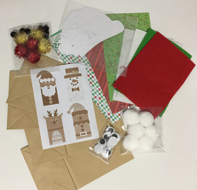 Easy paper bag Holiday Crafting with Kids