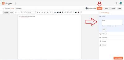 Membuat postingan baru di blog