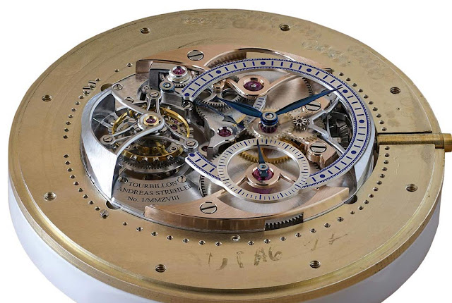 Andreas Strehler Trans-axial Remontoir Tourbillon, movement recto side