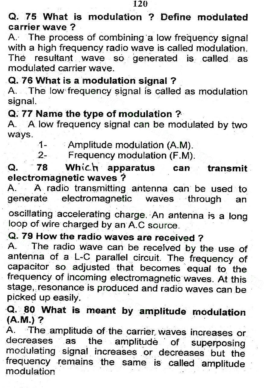 2nd Year Physics Chapter 16 Alternating Current notes