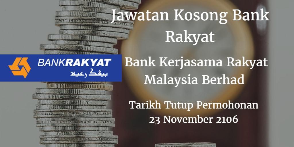 Jawatan Kosong Bank Rakyat 23 November 2016