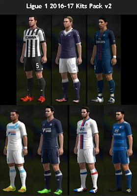 Ligue 1 2016-17 Kits Pack v2