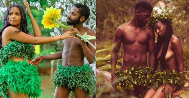 [5 Photos] After Eric Omondi, another Kenyan couple recreate Adam & Eve story