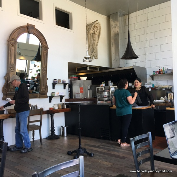 interior of La Capilla Mercado de Jugos Y Café in Berkeley, California