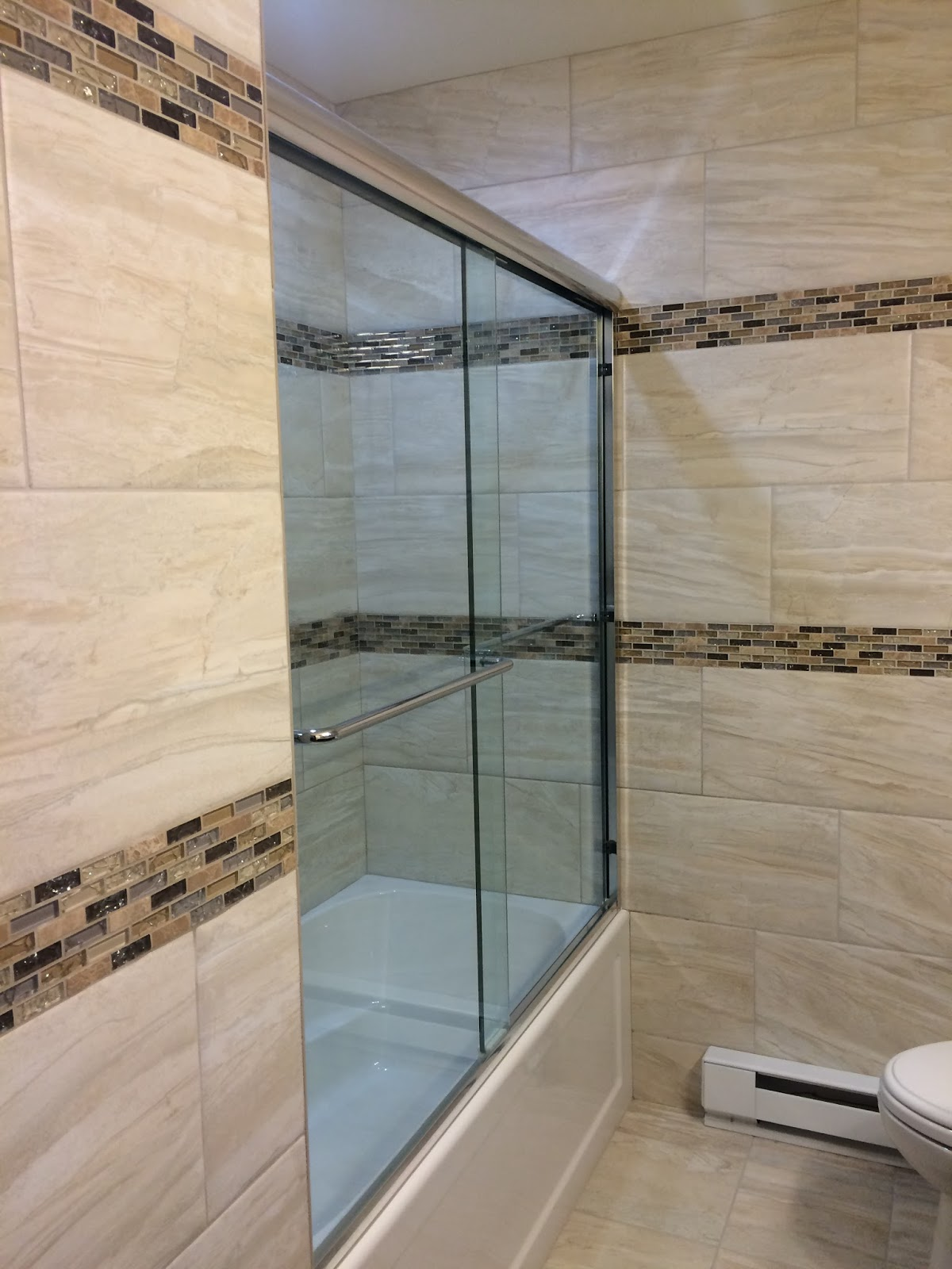 Custom Bathroom Remodeling: Large Format Tile Install w ...