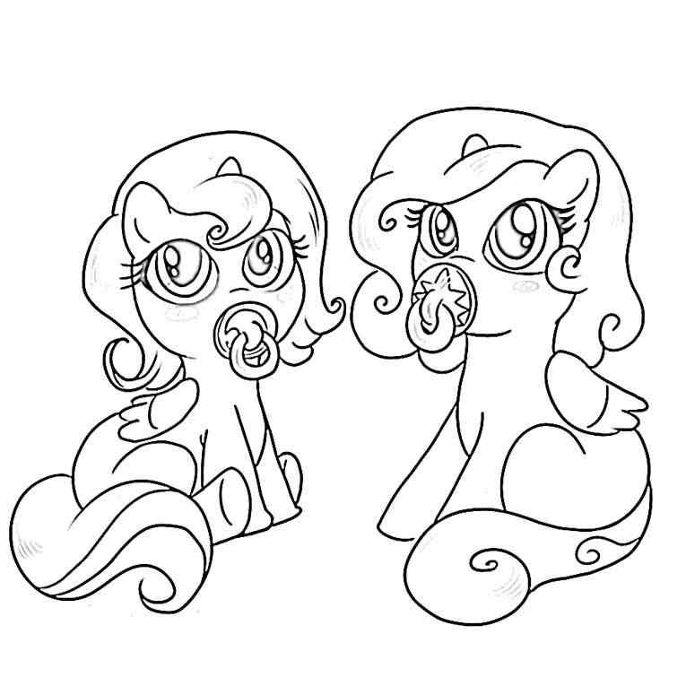 It's just a graphic of Obsessed Baby My Little Pony Coloring Pages
