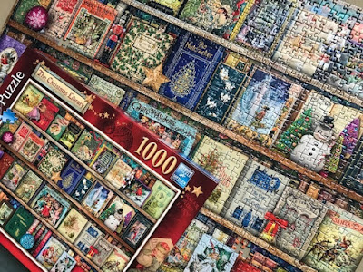 The Christmas Library puzzle from Ravensburger