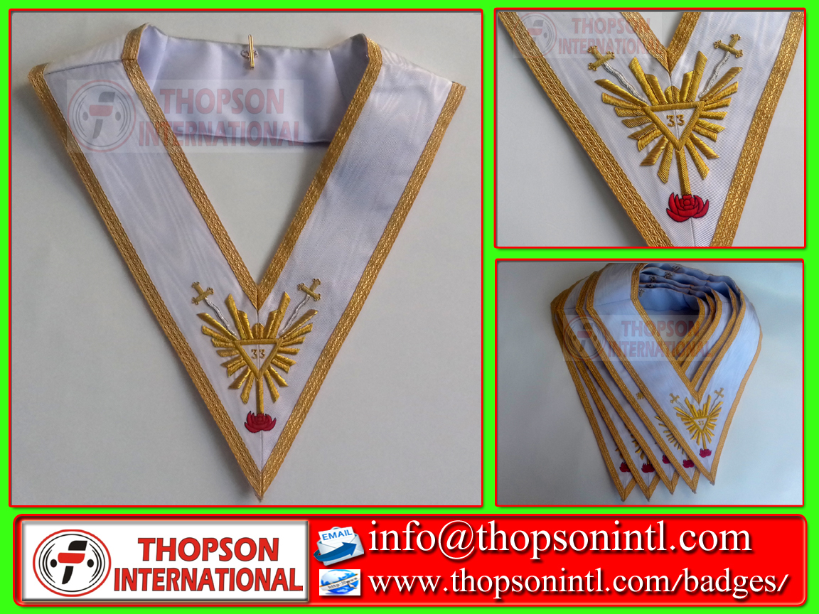 Masonic Regalia thopson: Masonic AASR 33rd degree Apron & collar