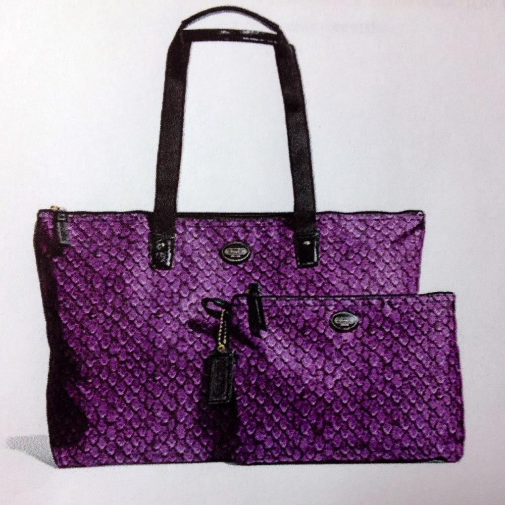 9a4a52c81a2e Bagtou instock branded coach bags jpg 1000x1000 Purple leopard coach  weekender