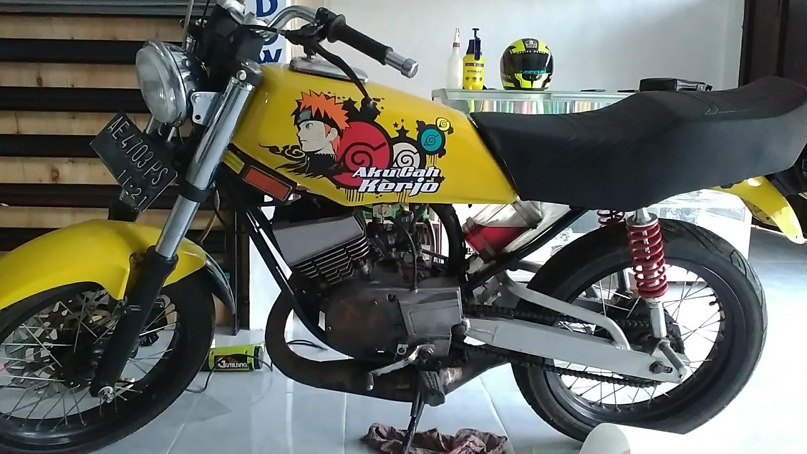 Garasi Sticker Cutting Sticker Rx King Naruto Aku Cah Kerjo