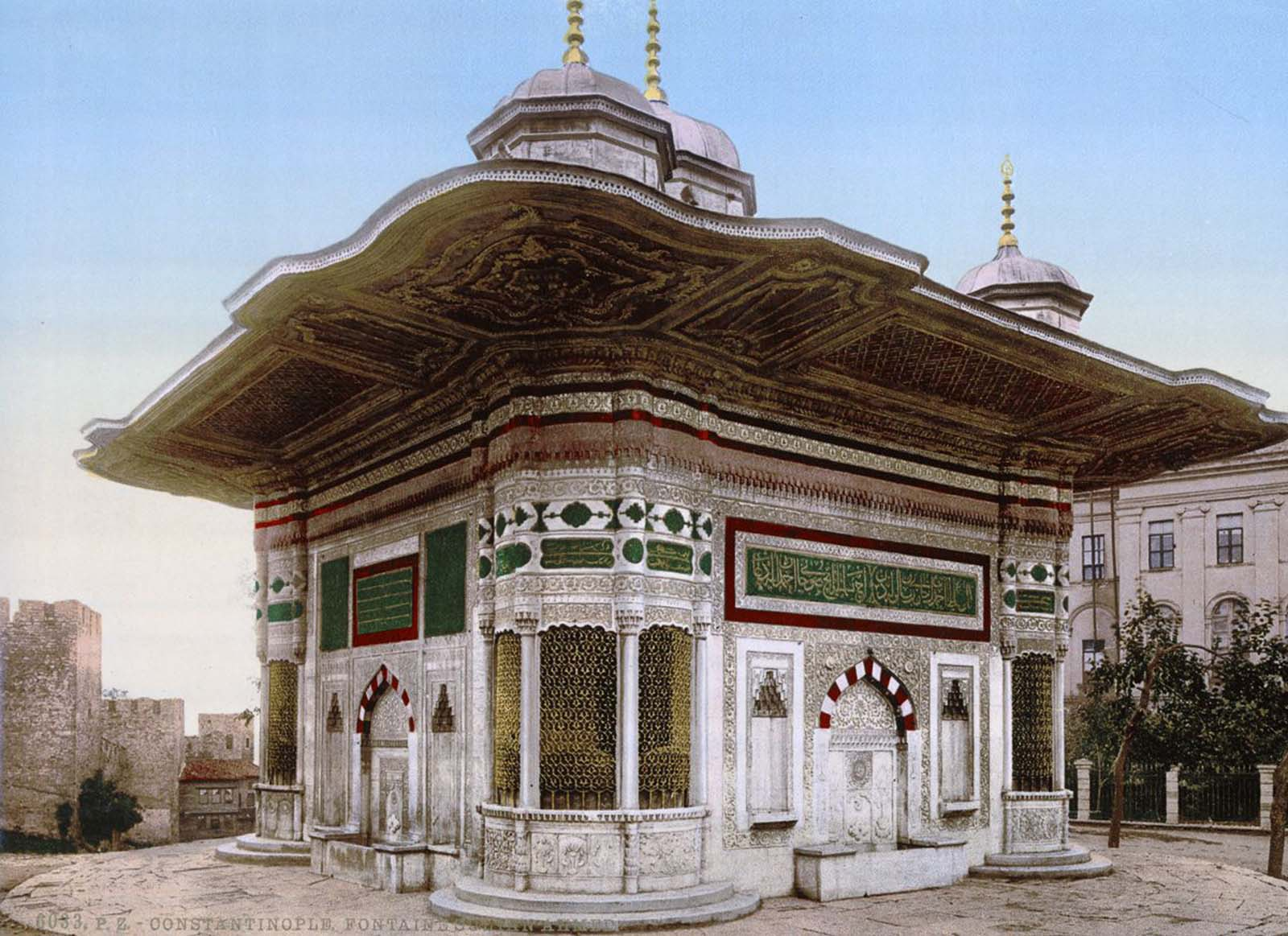The fountain of Sultan Ahmed.