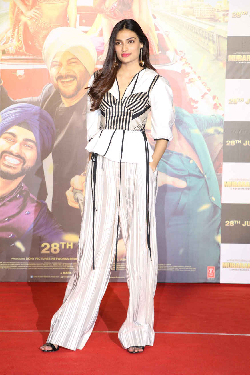 Athiya Shetty  at Trailer Launch of Mubarakan at PVR Premiere In Mumbai