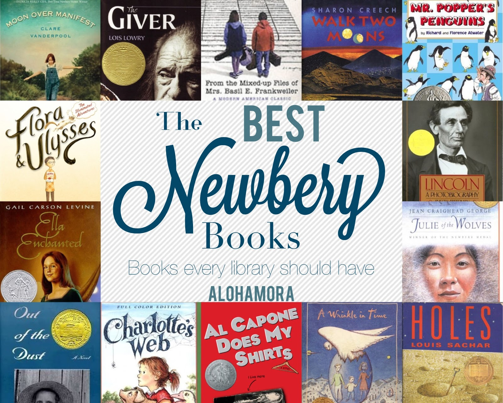 The 14 Best Newbery Award Books.  These books make great read alouds for a parent or classroom teacher.  These books are great for reluctant readers.  Non-fiction, historical fictions, realistic fictions, humor, fantasy, and science fiction.  All amazing books that everyone should have in their library. Alohamora Open a Book http://alohamoraopenabook.blogspot.com/