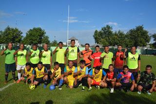 Korem 162/ Gelar Silaturahim Dan Futsal Bersama Awak Media