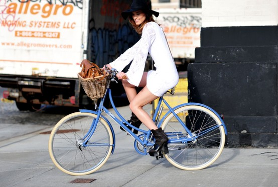 how to look chic while riding a bike