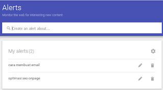 google alert index artikel