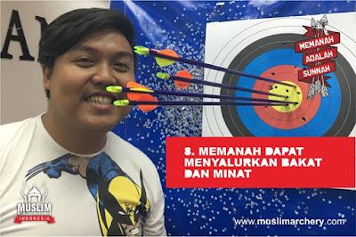 memanah  dapat menyalurkan bakat dan minat