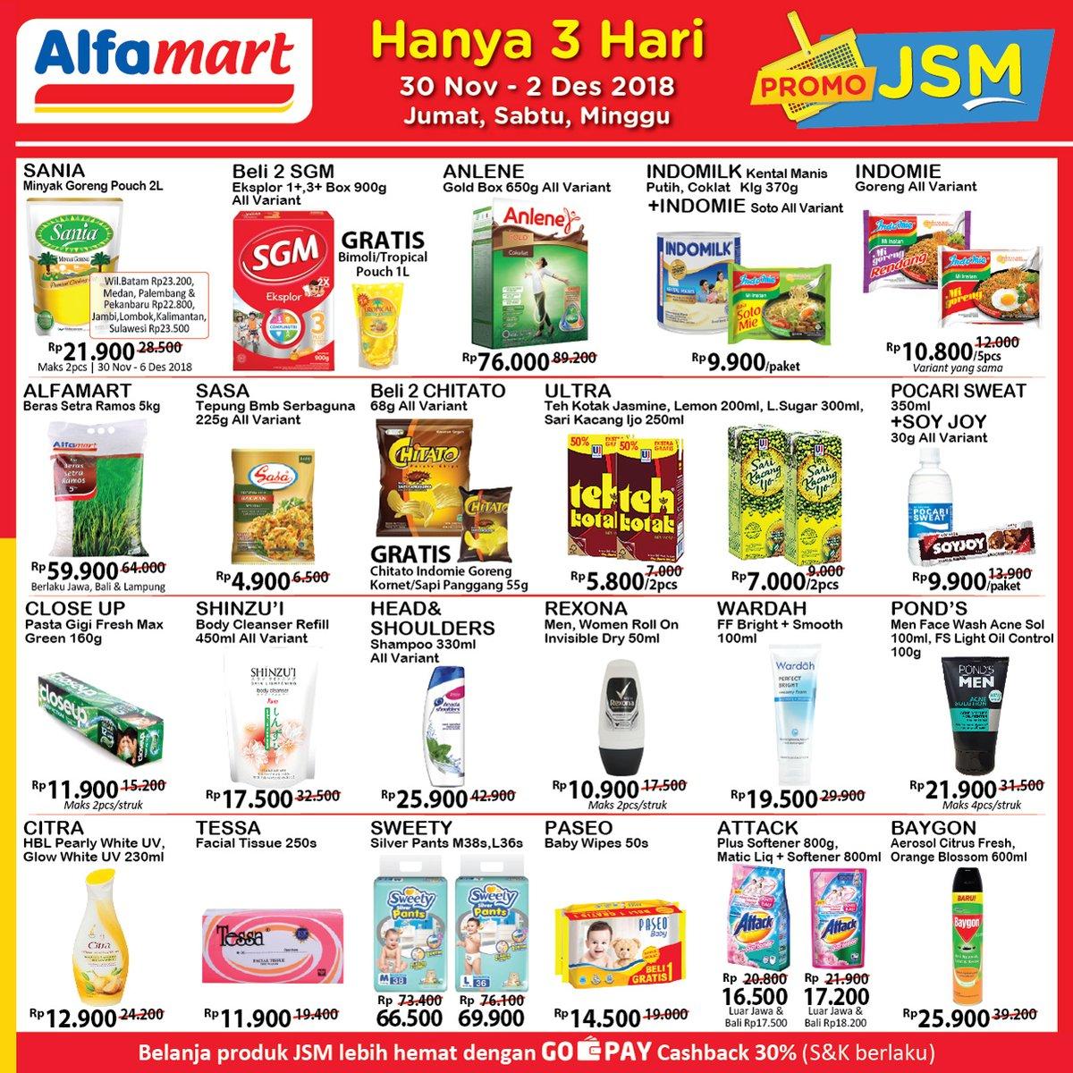 Alfamart - Promo JSM Periode 30 - 02 Desember 2018