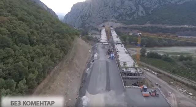 Video vom Autobahnbau Demir Kapija - Smokvica