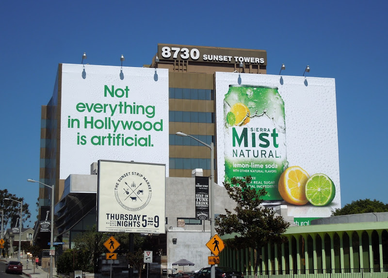 Sierra Mist billboards Sunset Strip