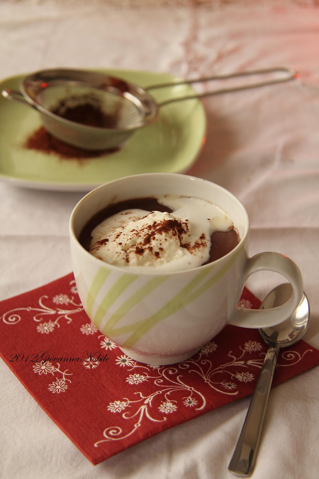 Cioccolata calda con panna - la cuoca eclettica
